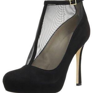 KATE SPADE Neveah Black Suede Leather Heels.